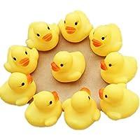 ベビートイMAKALON新しい1ダース( 12 ) Rubber Duck Ducky Duckie赤ちゃんシャワー誕生日パーティーFavors