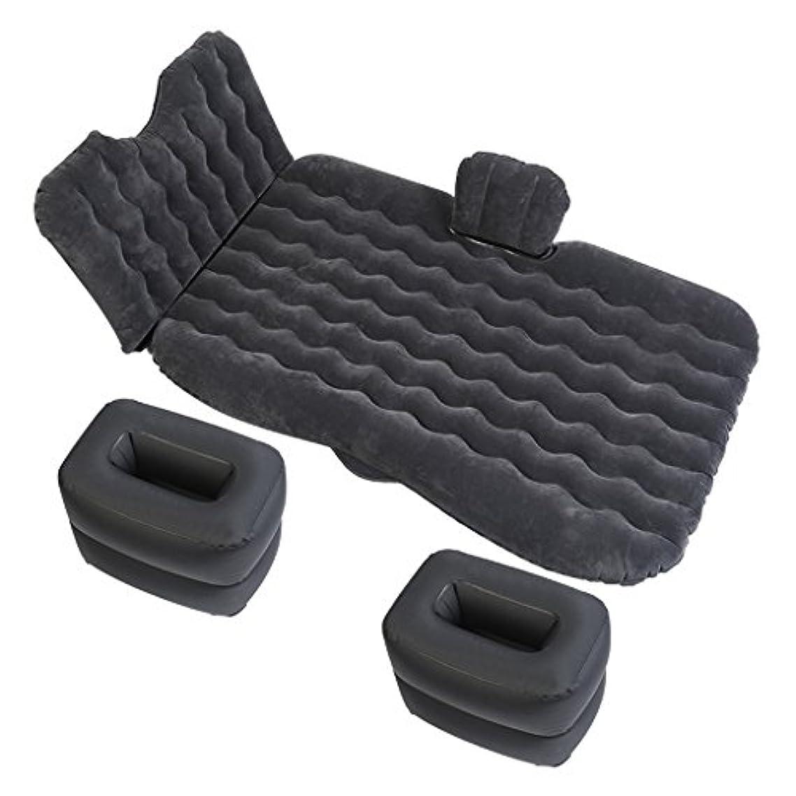 カウンターパート微生物首相QL エアベッド - 車の空気のベッド旅行のキャンプのための多機能旅行のキャンプのためのSUVの車の空気のベッド多機能Foldableポータブル旅行のキャンプの空気と枕の2つの空気枕 エアマットレス (Color : Black)