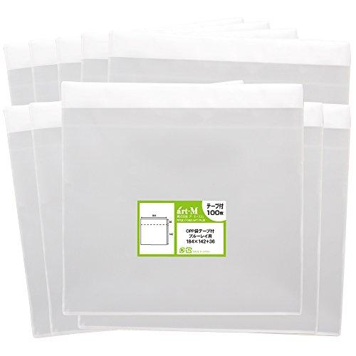 [해외]아토에무 1up 제품 국산 테이프 부착 블루 레이 용 투명 OPP 봉투 (투명 봉투) 1000 30 미크론 두께 (표준) 184x142 + 36mm/Artem 1up product with domestic production tape Blu-ray transparent OPP bag (transparent envelope) 1000 sheets 30 m...