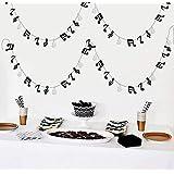 Furuix 音符ガーランド Gクレフガーランド 音楽パーティーバナー 音楽テーマパーティーデコレーション 音楽誕生日 ロックスター 誕生日ロック ロールパーティー 音楽テーマパーティー