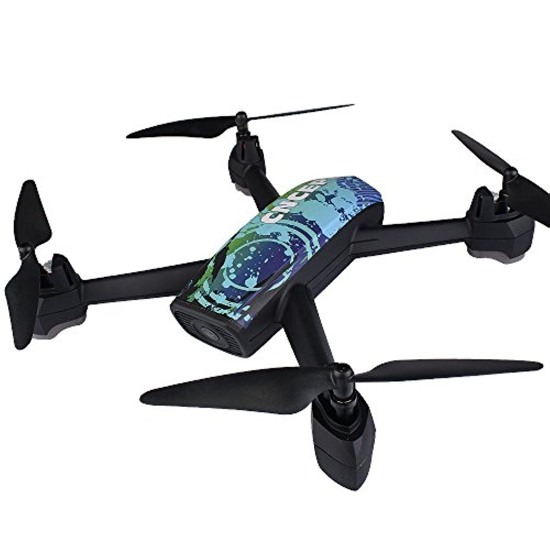 RaiFu ドローン JXD 518 クアドコプター 2.4GHz 720P HDカメラ付き WIFI FPV GPS搭載 撮影 録画 クリスマス 誕生日 プレゼント ギフト 子供 ブラック ブルー
