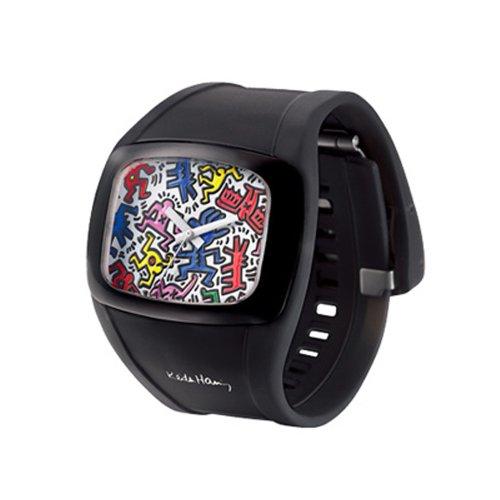 日本正規品 オーディーエム o.d.m Keith Haring キースへリング メンズ レディース 腕時計 DD100A (ブラック(DD100A-60))