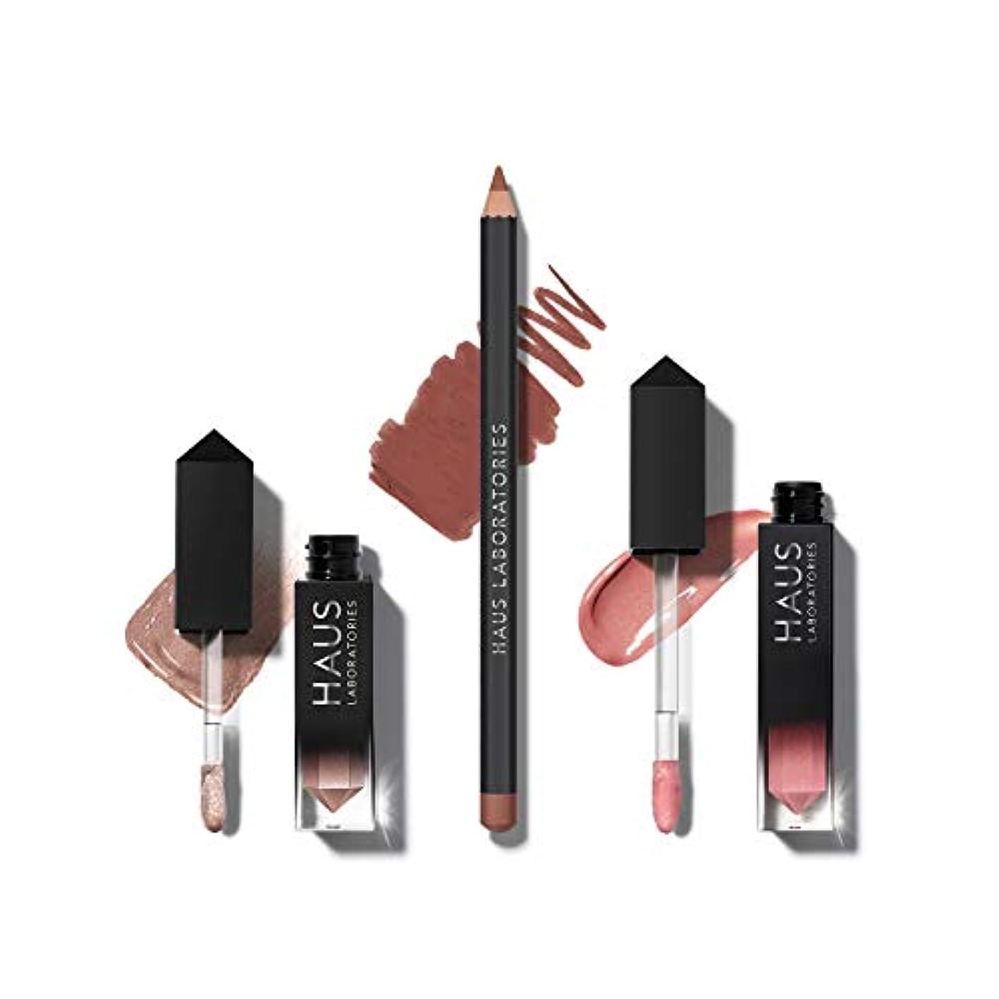 単にメロドラマティック中古HAUS LABORATORIES HAUS of Collections 3点セット All-Over Color, Lip Gloss, Lip Liner (HAUS of Goddess)