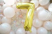 Forzza 数字風船 数字バルーン アルミ風船 誕生日 バースデー 飾り付け 装飾セット お祝い 36インチ ゴールド (7)