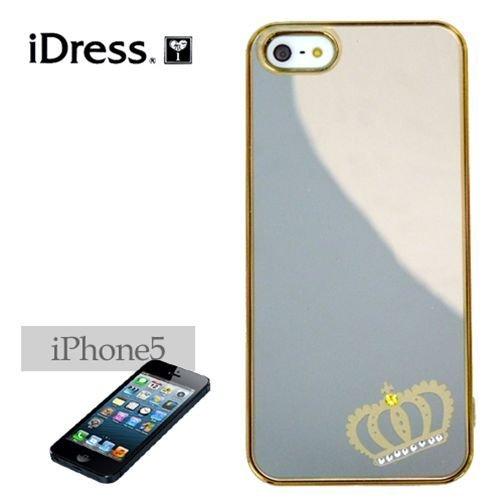 サンクレスト 【iDress/LADY COOL】ゴールドクラウン iPhone5バックカバー アイフォン5ケース