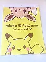 ミスド福袋2019 ポケモンコラボ 壁掛けカレンダーのみ ピカチュウ イーブイ ミスタードーナツ