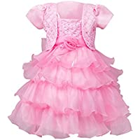 Weixinbuy Girls' Princess 2PCS Cappa + Dress Party Pageant Evening Dresses