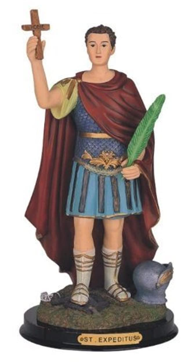 12 Inch Saint Expeditus Holy Figure Religious Decoration Statue Decor by GSC [並行輸入品]