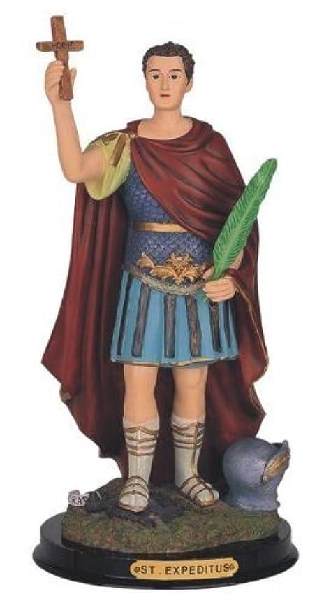化学面揃える12 Inch Saint Expeditus Holy Figure Religious Decoration Statue Decor by GSC [並行輸入品]