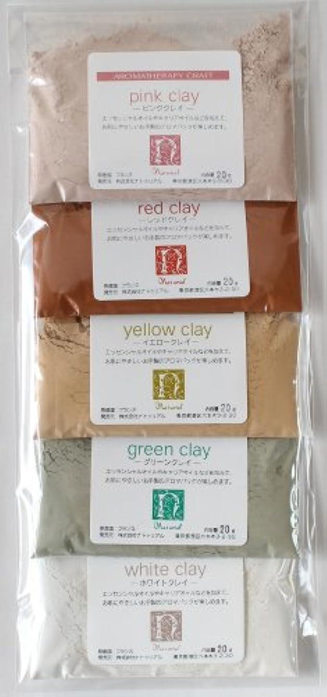 溶ける花弁食物フレンチクレイお試し5色セット各20g
