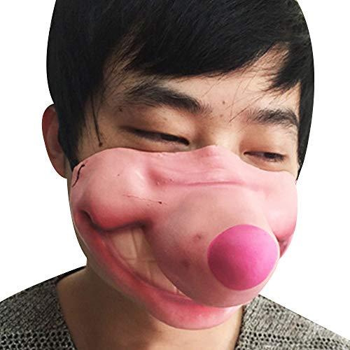 ハロウィン 飾り 面白い ホラー コスプレ小物 cosplay 半顔怖いハロウィーンコスチュームボールマスク 非毒性 安全 環境保護 ミッキーの鼻