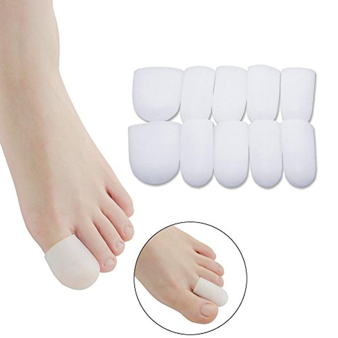 神話性格第TINYPONY 爪先保護カバー シリコン 摩擦対策 痛み緩和 つま先プロテクター 足指保護キャップ 足用保護パッド 5組みセット