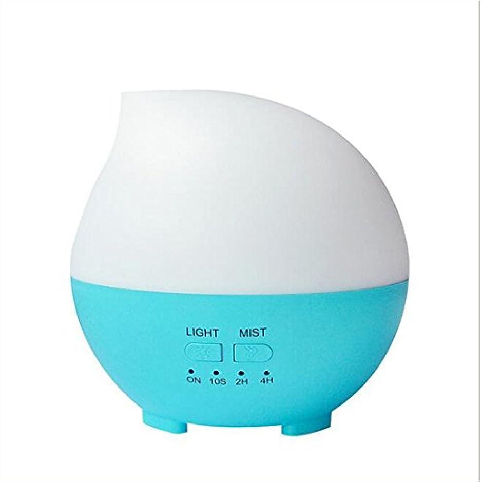 救い付録温かい加湿器フィルター 加湿器アロマセラピーディフューザーカラーLEDライトホーム車のオフィス(14 * 14 * 14センチメートル) ( Color : Blue )