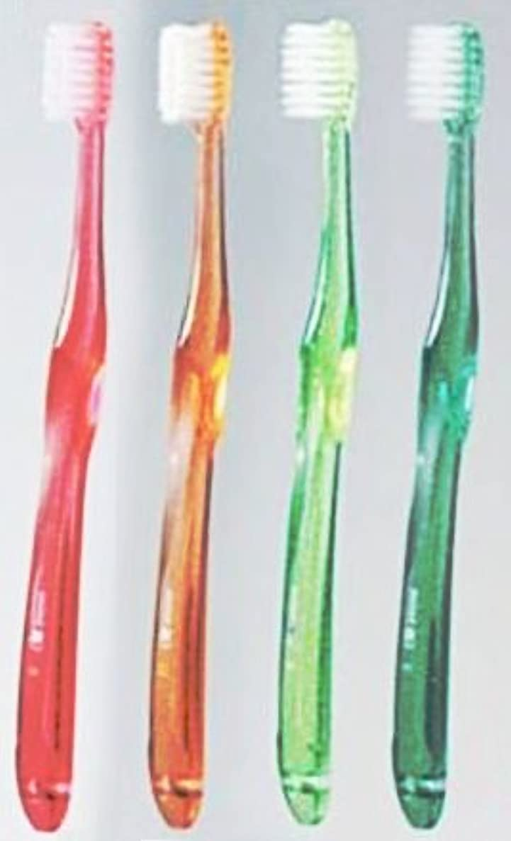 休憩心臓懐疑論ミント歯ブラシ Ω (オメガ) ラウンド中心ハードタイプ (カラー指定不可) 歯科医院専売 (1本)