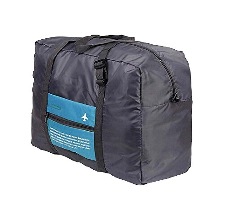 現代クマノミ端末ラージダッフルバッグ丈夫な旅行折りたたみ多機能収納袋ブルー #01