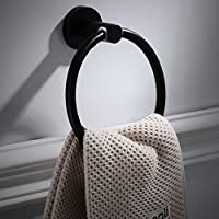 バスルームのハードウェア、ヨーロッパスタイルアンティークタオルリングラウンドタオルラックブラックステンレス鋼