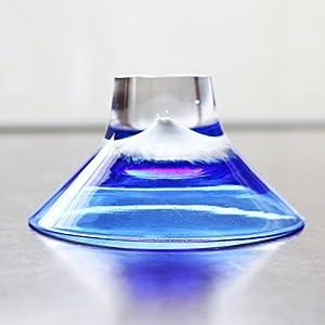 glass calico グラスキャリコ ハンドメイド ガラス酒器 富士山 ぐい呑 逆さ富士
