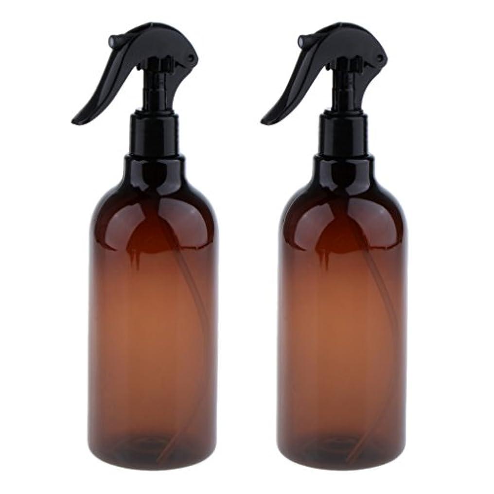 馬鹿げた食堂ランチョンKesoto スプレーボトル 美容ボトル 空ボトル スプレー ボトル サロン 美容 水スプレー 500ml 全3色選べる - ブラウン+ブラック