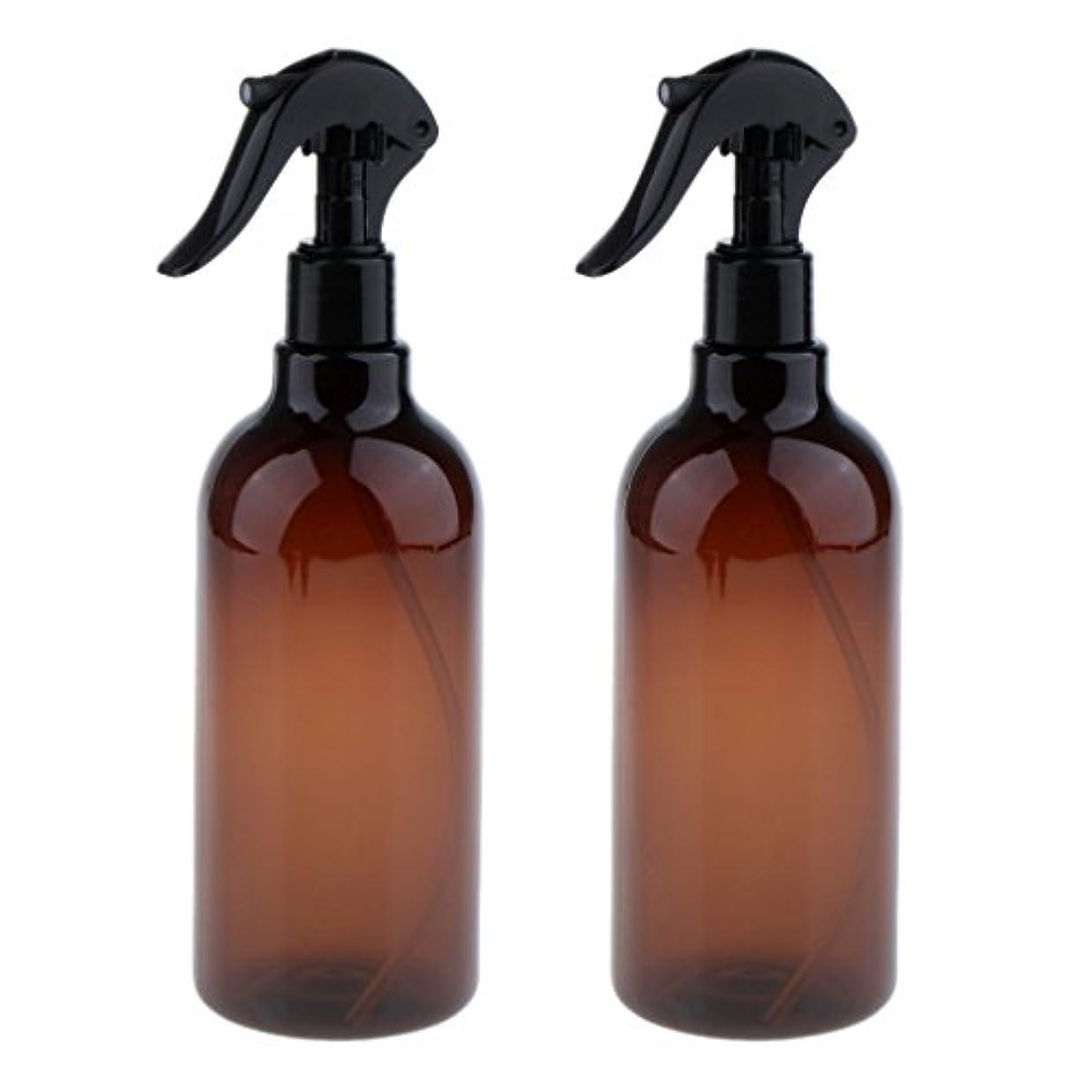 しおれた上級会うKesoto スプレーボトル 美容ボトル 空ボトル スプレー ボトル サロン 美容 水スプレー 500ml 全3色選べる - ブラウン+ブラック