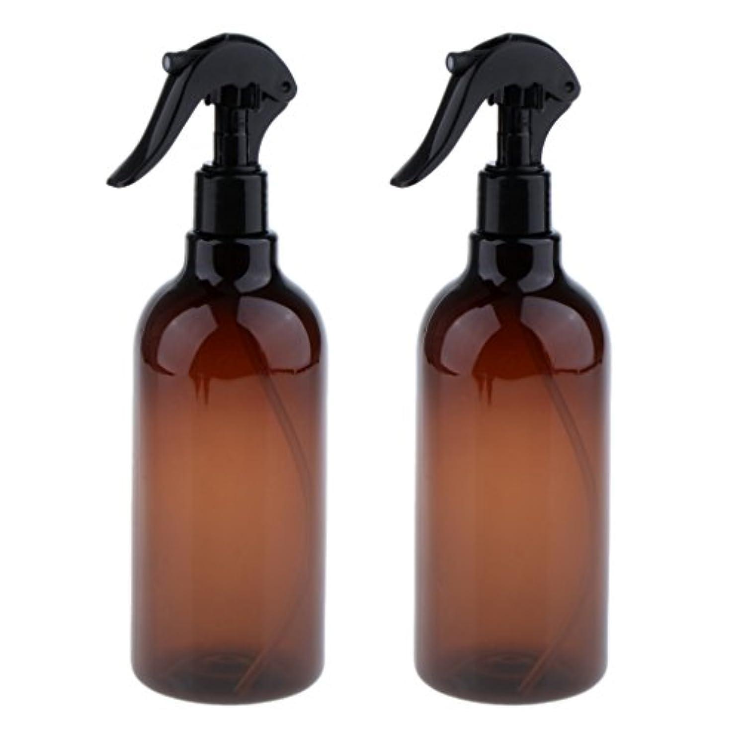 警報ブラシ震えKesoto スプレーボトル 美容ボトル 空ボトル スプレー ボトル サロン 美容 水スプレー 500ml 全3色選べる - ブラウン+ブラック