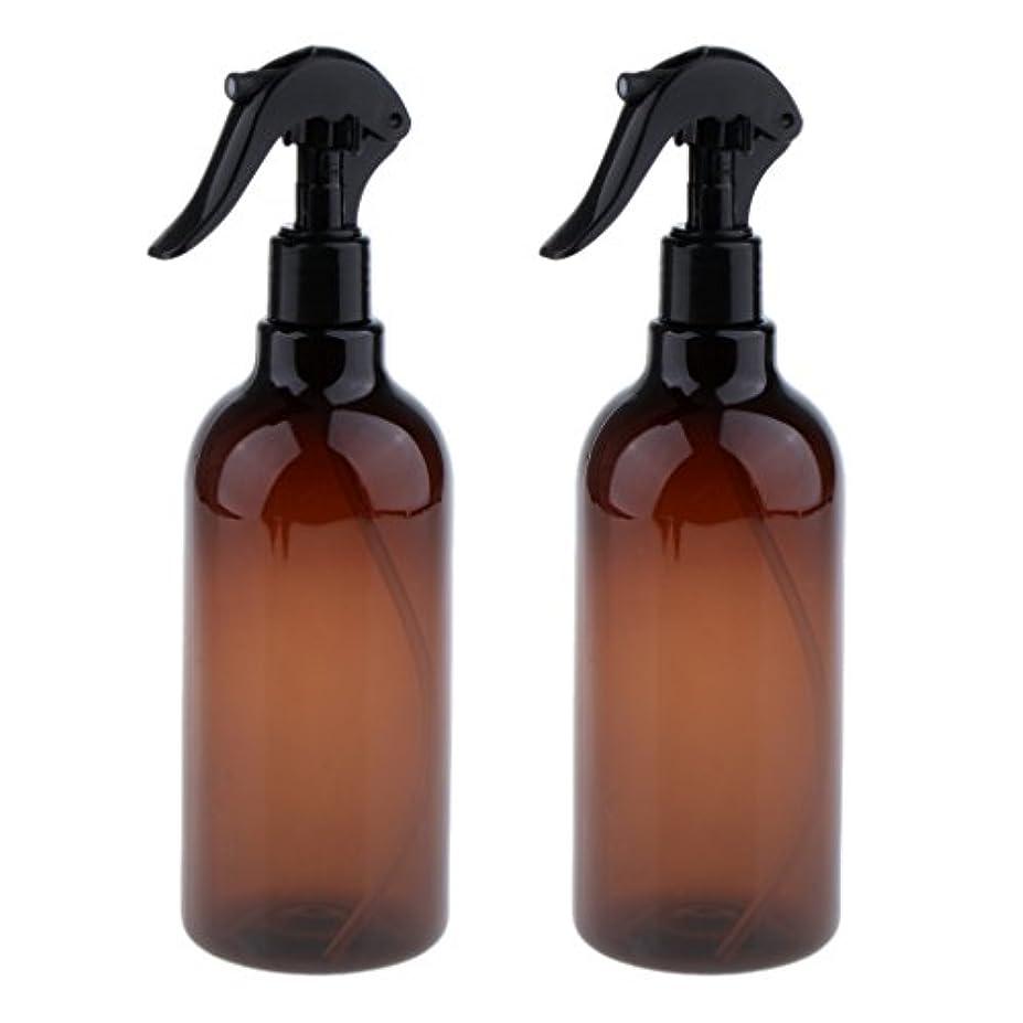 権利を与える冗談で飛び込むKesoto スプレーボトル 美容ボトル 空ボトル スプレー ボトル サロン 美容 水スプレー 500ml 全3色選べる - ブラウン+ブラック