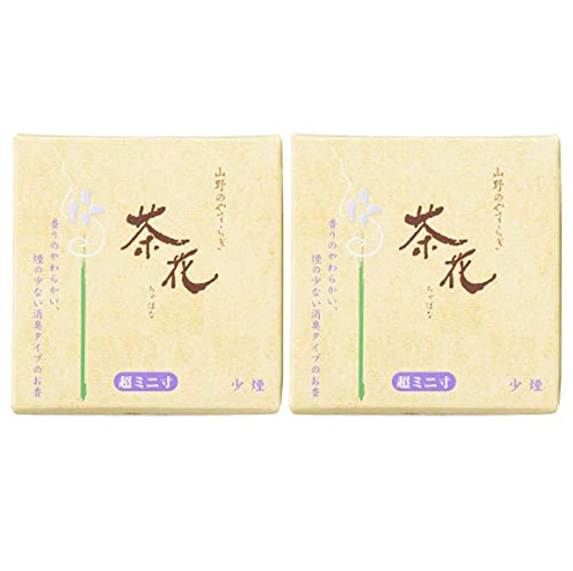 同化セメント核尚林堂(Shorindo) 線香 6cm 茶花 少煙 超ミニ寸 2個セット