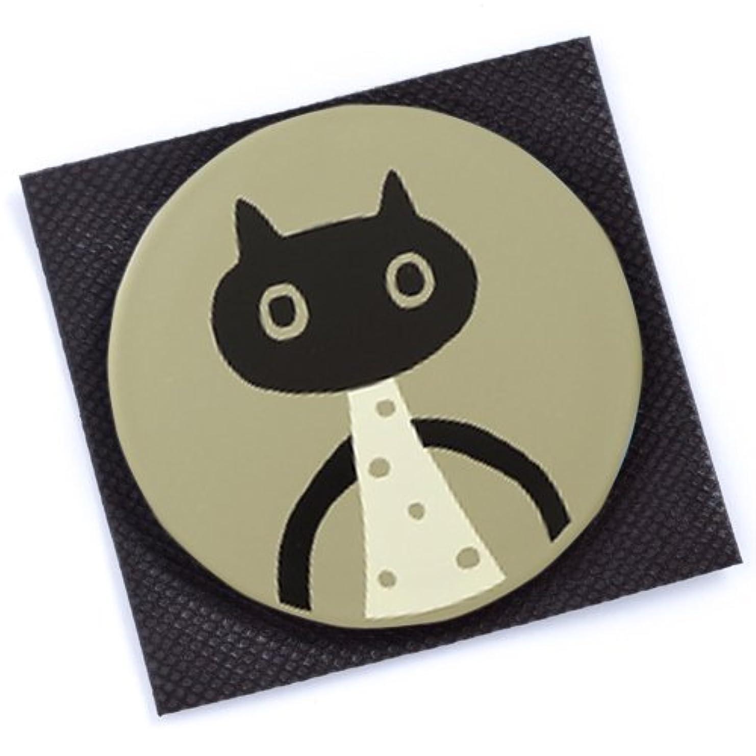 上へ中国円形の【 アツコ マタノ 】 手鏡 MEME グレー
