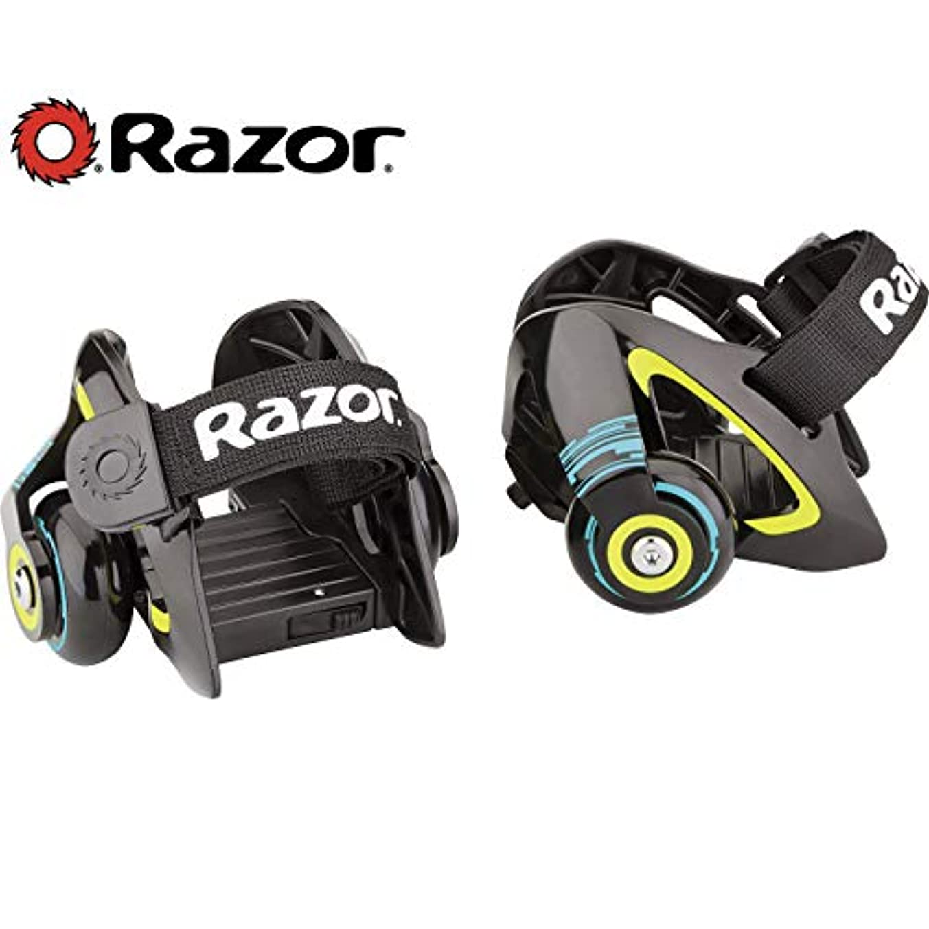 身元学習者巧みなRazor Jetts Heel Wheels - Green
