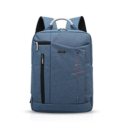 FANDARE かっこいいビジネスバッグ15.6インチPC収納旅行リュックサック出張通勤鞄学生用バックパック多機能多目的耐震大容量メンズレディース防水ポリエステル 青