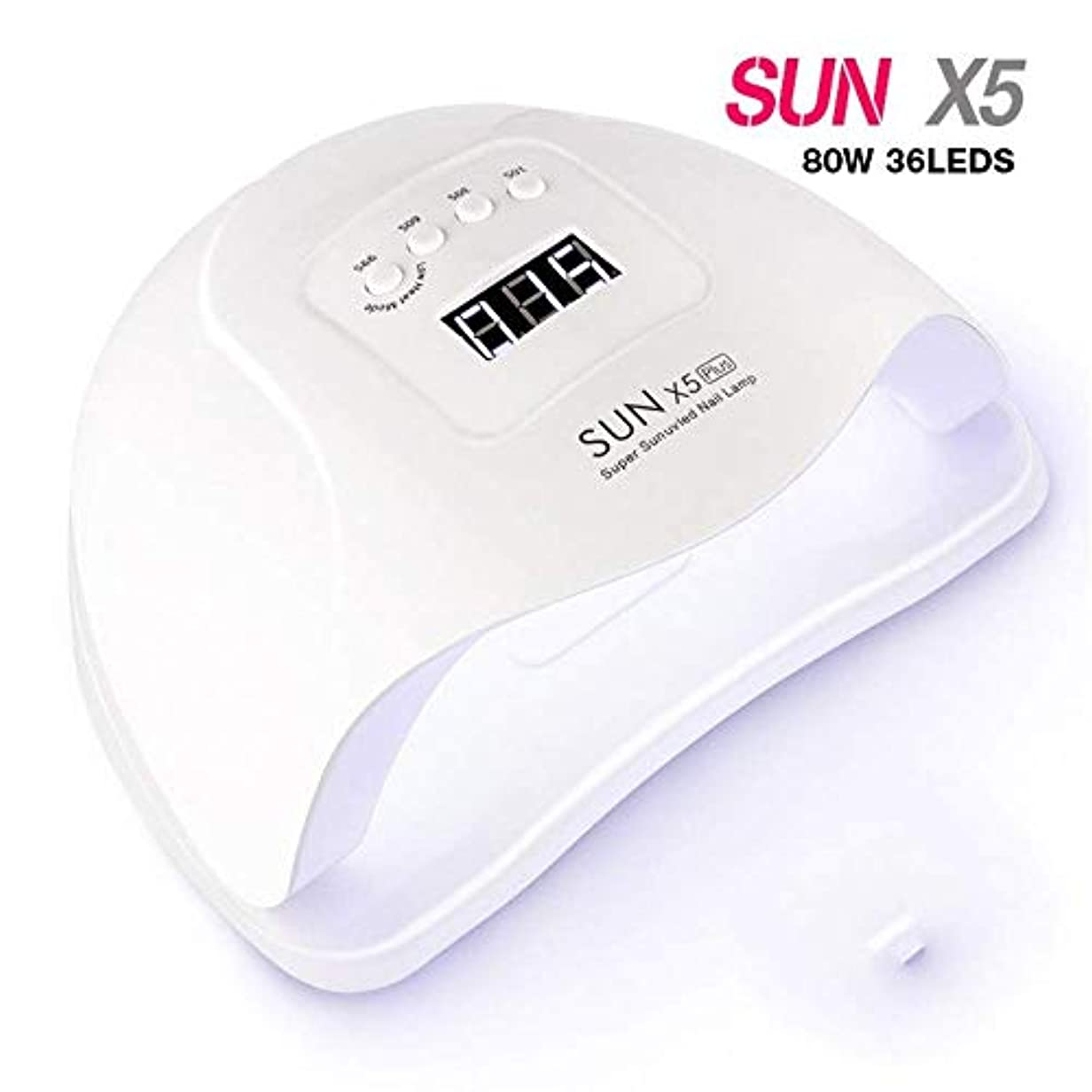 夜明けに競争静脈ネイルドライヤー54W / 80W Sun X5プラスネイルドライヤーLCDディスプレイ36 LEDドライヤーネイルランプUVジェルランプ硬化用ジェルポリッシュ自動検知ランプネイルドライヤー