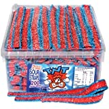 TNT Blue Raspberry Sour Straps, 200 Pieces 1.4kg