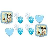 (アナグラム) Anagram Baby Mickey Mouse #1 1歳の男の子のバースデーパーティー向けマイラーラテックス製バルーン
