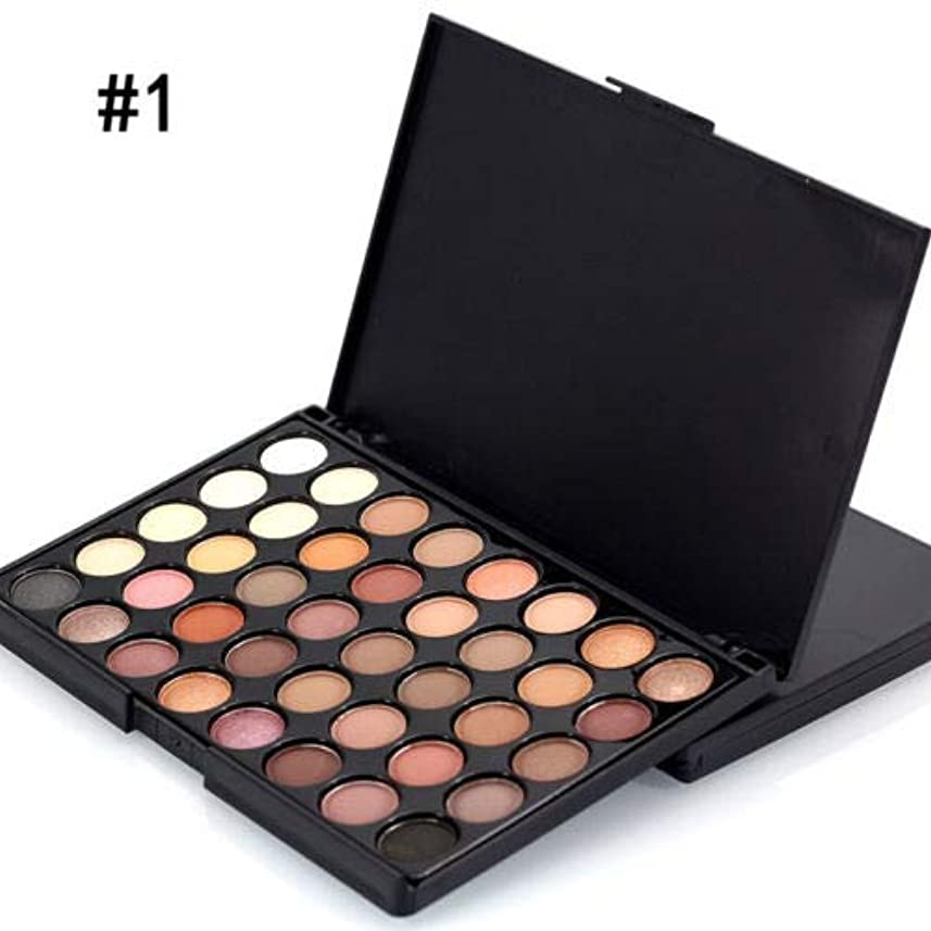 シエスタ視聴者統合FidgetGear 40色化粧品パウダーアイシャドーアイシャドーパレットメイクアップシマーセットマット #1