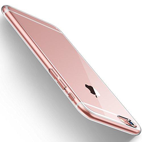 HumixxiPhone 6s ケース, iphone6ケース, 超スリム 耐衝撃 一体感 薄型 レンズ保護 透明(アイフォン6sケース,クリア)[Skin Series]
