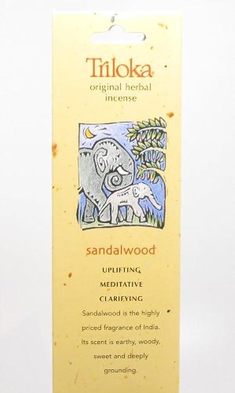 ギャングシステム尊敬サンダルウッド – Triloka元Herbal Incense Sticks