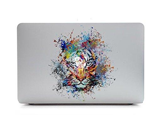 iCasso取り外し可能な Macbookデカール 神秘のイラストApple Macbook Pro Air Mac 13インチに適用するアップルマークを生かしたデカールシール (Macbook Pro Air Mac 13, タイガー)