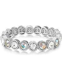 Mestige Maliah Bracelet with Swarovski® Crystals (Silver), Gifts Women Girls, Bridal, Bracelet