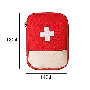 Decaker ファーストエイドキット 小型のメディカルポーチ スポーツレスキュー医療バッグ 学校 アウトドア 旅行 非常時用 ファーストエイド バッグ