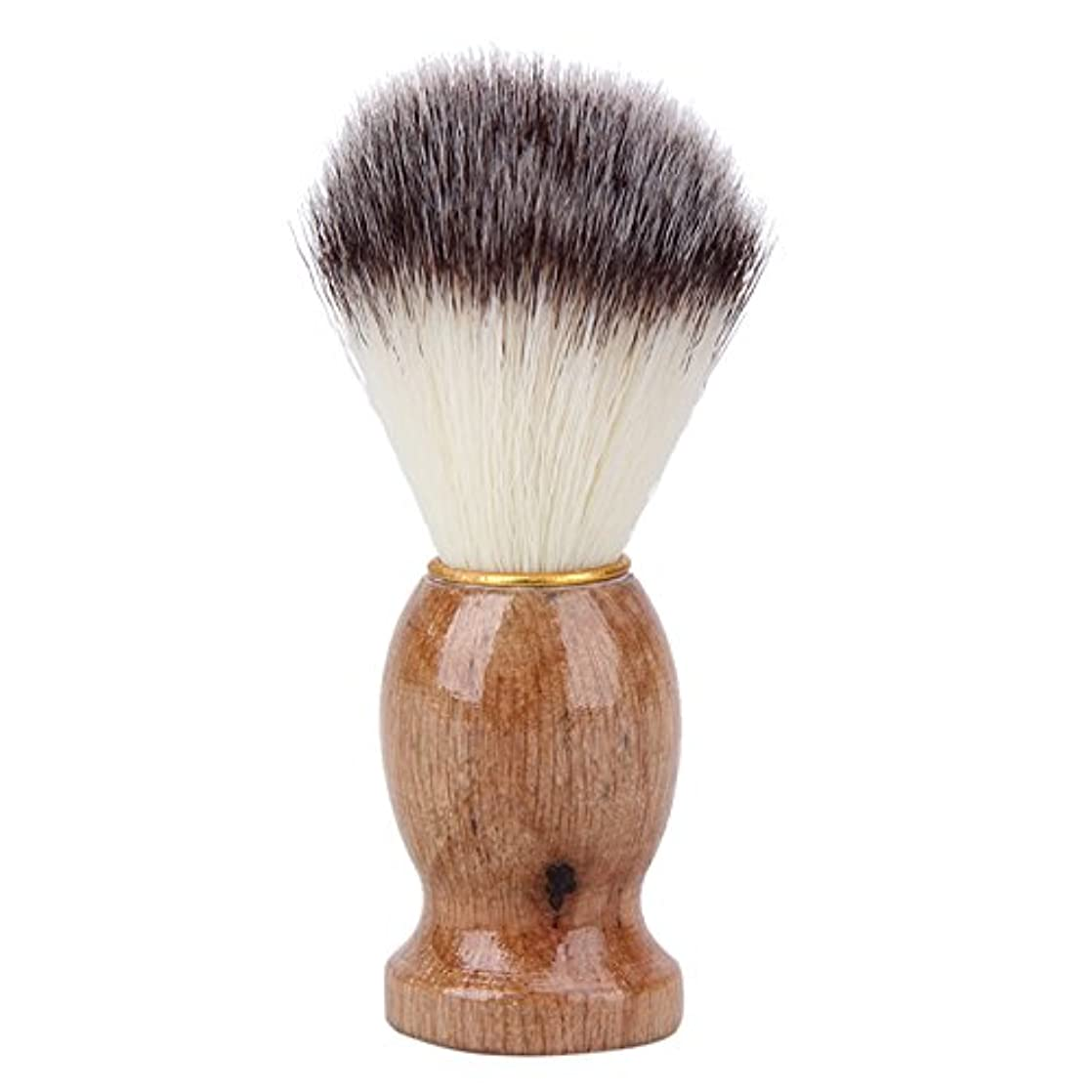 料理をする植物学者哀れなwangten メンズ用 髭剃り ブラシ シェービング ブラシ アナグマ毛 木製ハンドル 泡立ち 理容 洗顔 髭剃り
