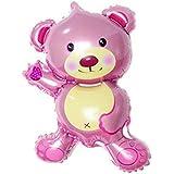 (デイリー スウィート)Daily Sweet  パーティグッズ 飾り アルミ風船 バルーン 可愛い 熊ちゃん 45X27CM 1個   (ピンク)