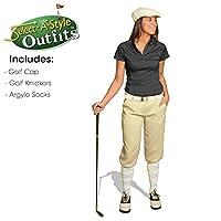 ゴルフKnickersレディースOutfit–Matchingゴルフキャップ–Natural 12