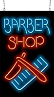 Barber Shop with Razor and Comb Neon Sign