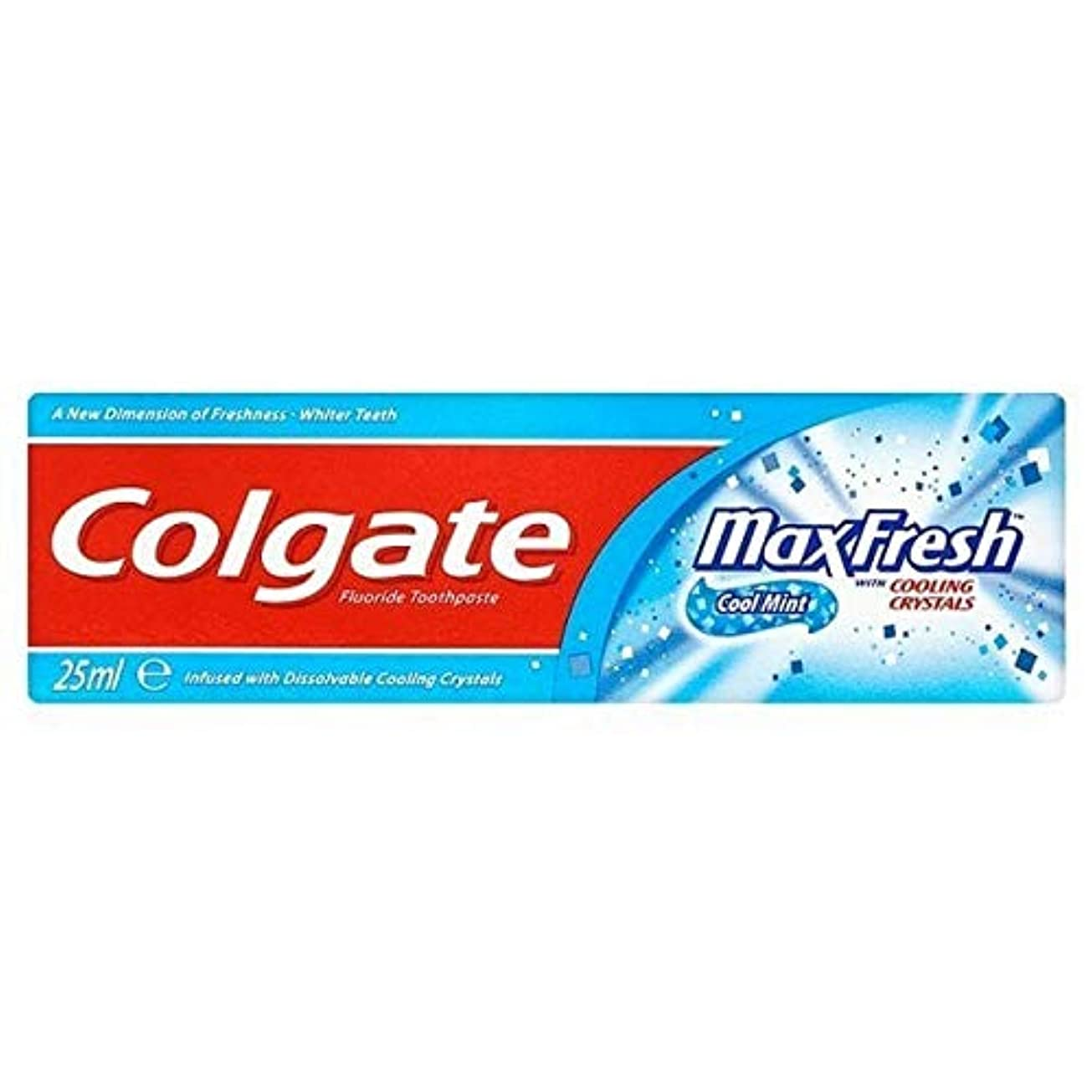 口径男性熟考する[Colgate ] 結晶歯磨き粉旅行25ミリリットル新鮮なコルゲートマックス - Colgate Max Fresh with Crystals Toothpaste Travel 25ml [並行輸入品]