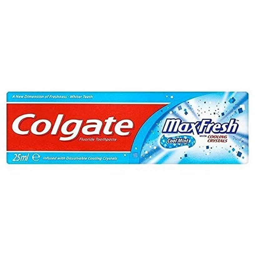 ライン作り粒子[Colgate ] 結晶歯磨き粉旅行25ミリリットル新鮮なコルゲートマックス - Colgate Max Fresh with Crystals Toothpaste Travel 25ml [並行輸入品]