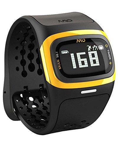 【日本国内正規販売品・保証付】MIO Alpha 2 ミオ アルファ 2 Yellow Trim イエロー Bluetooth SMART/Bluetooth 4.0対応【継続的心拍計付き腕時計】