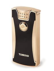 TOMOLO 電子ライター USB充電式 高級ライター 防風 無炎 ガスオイル不要