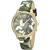 Michael Kors Women's Quartz Watch analog Display and Leather Strap, MK2811