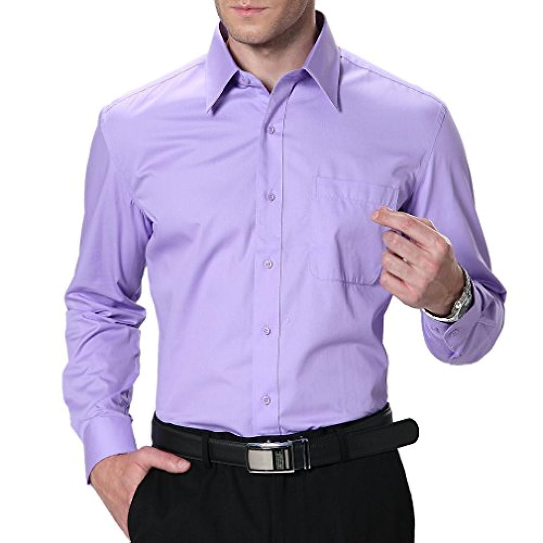 ストライドプレゼンフェンスHonghuメンズワイシャツ形態安定加工ノーアイロン耐久性も問題ないサイズもピッタリ婚冠葬祭で着れます