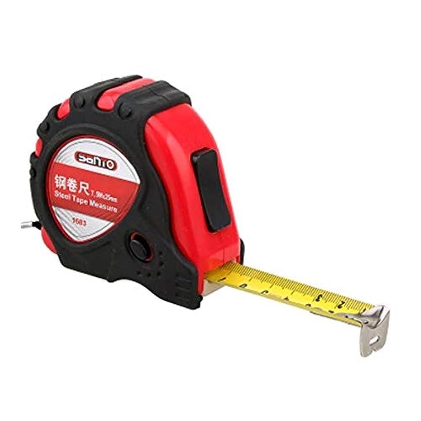イタリック袋世界記録のギネスブックRCDD 7.5mゴム引きスチール巻尺、木工定規装飾定規、3種類のブレーキング方法 (Color : Red, Size : 7.5m)