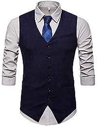 CEEN メンズ スーツベスト 上品 ポケット おしゃれ ビジネス カジュアル フォーマル スーツ仕立て Vネック スリム ジレベスト 紳士